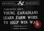 Image of Canadian people Toronto Ontario Canada, 1940, second 7 stock footage video 65675046157
