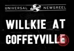 Image of Wendell Willkie Coffeyville Kansas USA, 1940, second 1 stock footage video 65675046159