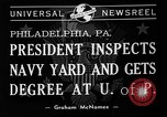 Image of President Roosevelt Philadelphia Pennsylvania USA, 1940, second 4 stock footage video 65675046164