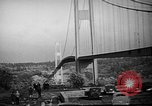 Image of Tacoma Narrows Bridge Washington State United States USA, 1940, second 12 stock footage video 65675046173