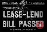 Image of Lend -Lease bill passed Washington DC USA, 1941, second 3 stock footage video 65675046185