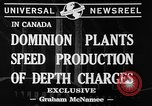 Image of depth charges Canada, 1941, second 6 stock footage video 65675046193