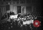 Image of President Roosevelt declares war Washington DC USA, 1941, second 5 stock footage video 65675046195