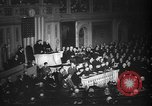 Image of President Roosevelt declares war Washington DC USA, 1941, second 6 stock footage video 65675046195