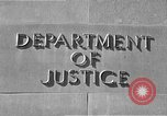 Image of Department of Justice Washington DC USA, 1950, second 3 stock footage video 65675046206
