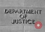 Image of Department of Justice Washington DC USA, 1950, second 4 stock footage video 65675046206