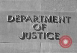 Image of Department of Justice Washington DC USA, 1950, second 5 stock footage video 65675046206