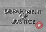 Image of Department of Justice Washington DC USA, 1950, second 6 stock footage video 65675046206