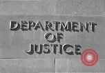 Image of Department of Justice Washington DC USA, 1950, second 9 stock footage video 65675046206