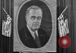 Image of Poster of President Franklin Roosevelt Philadelphia Pennsylvania USA, 1936, second 1 stock footage video 65675046214