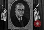 Image of Poster of President Franklin Roosevelt Philadelphia Pennsylvania USA, 1936, second 2 stock footage video 65675046214