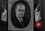 Image of Poster of President Franklin Roosevelt Philadelphia Pennsylvania USA, 1936, second 3 stock footage video 65675046214