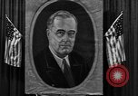 Image of Poster of President Franklin Roosevelt Philadelphia Pennsylvania USA, 1936, second 4 stock footage video 65675046214