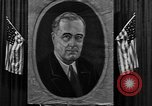 Image of Poster of President Franklin Roosevelt Philadelphia Pennsylvania USA, 1936, second 5 stock footage video 65675046214