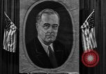 Image of Poster of President Franklin Roosevelt Philadelphia Pennsylvania USA, 1936, second 6 stock footage video 65675046214