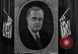 Image of Poster of President Franklin Roosevelt Philadelphia Pennsylvania USA, 1936, second 7 stock footage video 65675046214