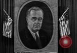 Image of Poster of President Franklin Roosevelt Philadelphia Pennsylvania USA, 1936, second 8 stock footage video 65675046214