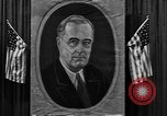 Image of Poster of President Franklin Roosevelt Philadelphia Pennsylvania USA, 1936, second 9 stock footage video 65675046214