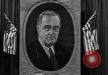 Image of Poster of President Franklin Roosevelt Philadelphia Pennsylvania USA, 1936, second 10 stock footage video 65675046214