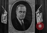 Image of Poster of President Franklin Roosevelt Philadelphia Pennsylvania USA, 1936, second 11 stock footage video 65675046214