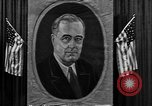 Image of Poster of President Franklin Roosevelt Philadelphia Pennsylvania USA, 1936, second 12 stock footage video 65675046214