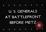 Image of United States 3rd Army Metz France, 1944, second 2 stock footage video 65675046227