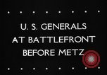 Image of United States 3rd Army Metz France, 1944, second 6 stock footage video 65675046227