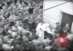 Image of Military Chaplain (Catholic) conducts mass during World War 2 Weymouth England, 1944, second 15 stock footage video 65675046311