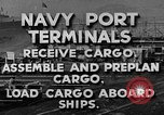 Image of Navy Port Terminal United States USA, 1951, second 2 stock footage video 65675046355