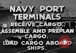 Image of Navy Port Terminal United States USA, 1951, second 4 stock footage video 65675046355