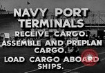 Image of Navy Port Terminal United States USA, 1951, second 7 stock footage video 65675046355