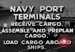 Image of Navy Port Terminal United States USA, 1951, second 8 stock footage video 65675046355