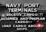 Image of Navy Port Terminal United States USA, 1951, second 9 stock footage video 65675046355