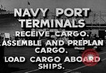 Image of Navy Port Terminal United States USA, 1951, second 10 stock footage video 65675046355