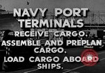 Image of Navy Port Terminal United States USA, 1951, second 11 stock footage video 65675046355