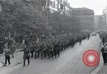 Image of Czech soldiers march Prague Czechoslovakia, 1945, second 2 stock footage video 65675046381