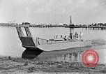 Image of Test of Higgins Boat using tractor Louisiana United States USA, 1941, second 11 stock footage video 65675046394