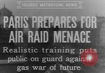 Image of training against air raid Paris France, 1935, second 10 stock footage video 65675046407