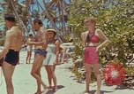 Image of people at beach Pacific Theater, 1945, second 8 stock footage video 65675046444