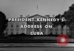 Image of John F Kennedy during Cuban Missile Crisis United States USA, 1962, second 3 stock footage video 65675046517