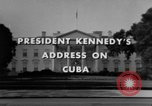 Image of John F Kennedy during Cuban Missile Crisis United States USA, 1962, second 4 stock footage video 65675046517