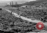 Image of city damage after atomic bomb strike Nagasaki Japan, 1945, second 10 stock footage video 65675046543