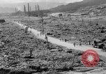Image of city damage after atomic bomb strike Nagasaki Japan, 1945, second 11 stock footage video 65675046543