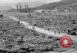Image of city damage after atomic bomb strike Nagasaki Japan, 1945, second 12 stock footage video 65675046543