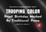 Image of birthday of Queen London England United Kingdom, 1959, second 1 stock footage video 65675046561