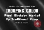 Image of birthday of Queen London England United Kingdom, 1959, second 2 stock footage video 65675046561