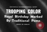 Image of birthday of Queen London England United Kingdom, 1959, second 5 stock footage video 65675046561