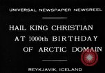 Image of King Christian Reykjavik Iceland, 1930, second 1 stock footage video 65675046568