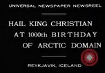Image of King Christian Reykjavik Iceland, 1930, second 2 stock footage video 65675046568