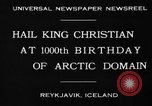 Image of King Christian Reykjavik Iceland, 1930, second 7 stock footage video 65675046568